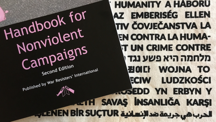 The front cover of WRI's Handbook for Nonviolent Campaigns