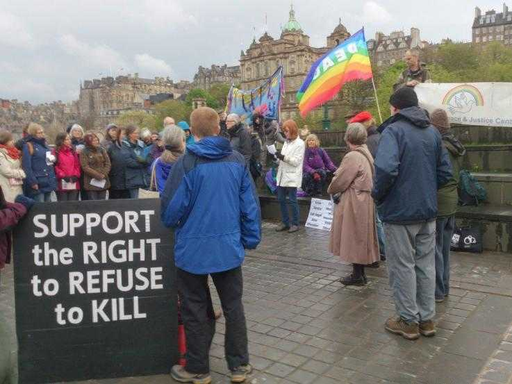 Activists in Edinburgh protesting on the International CO Day
