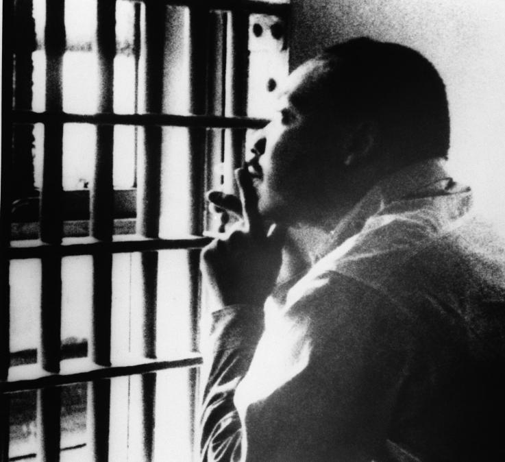 A picture of Martin Luther King Jr. in prison