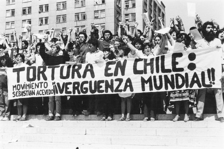 A photo from the campaign in Chile, to get rid of Pinochet