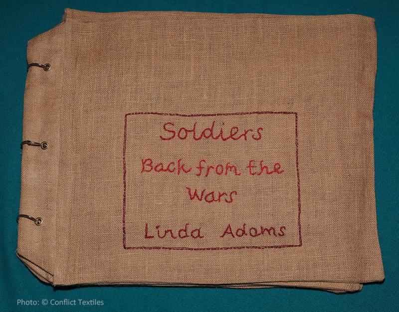 Soldiers back from the wars (1/4) - Arpillera trilogy, English arpillera, Linda Adams, 2010, Photo Martin Melaugh, Conflict Textiles collection