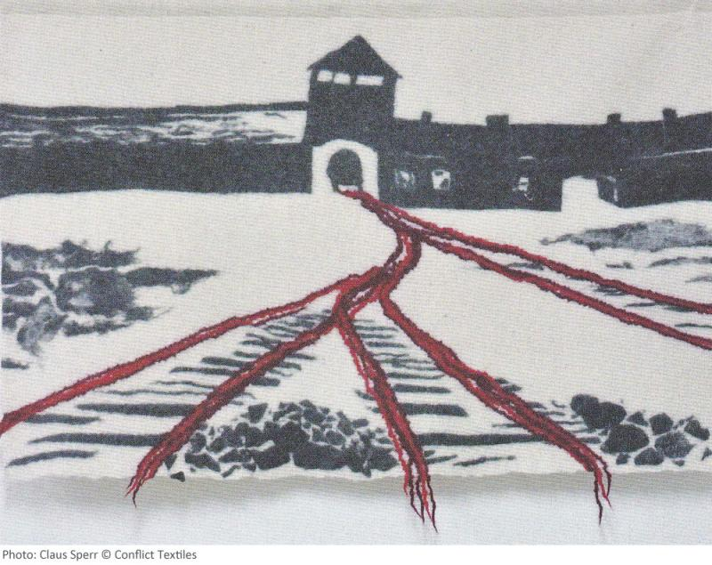 Blutspur / Blood trail, German Wall hanging, Heidi Drahota, 2011, Photo Claus Sperr , Heidi Drahota collection