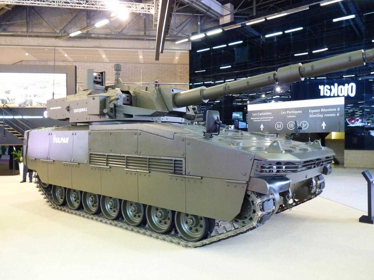 An Otokar tank on display at Eurosatory 2018