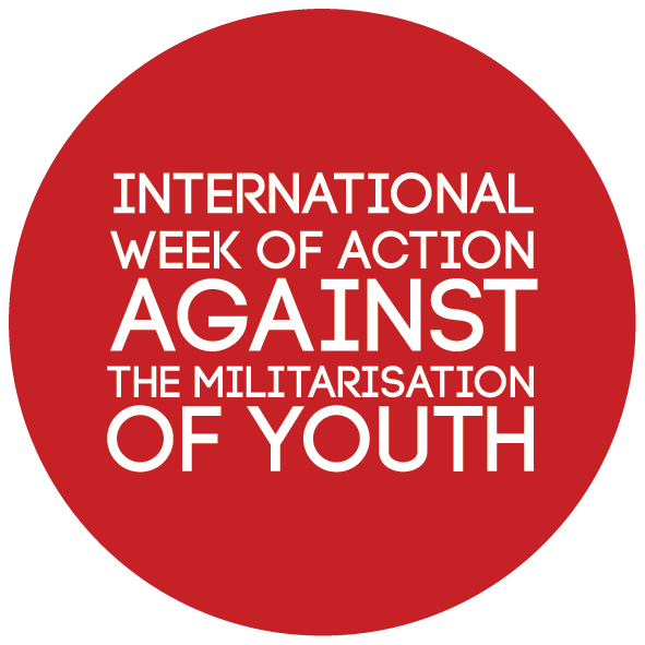 The logo for the week of action against the militarisation of youth