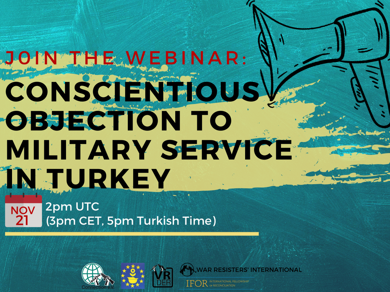 Conscientious Objection in Turkey webinar poster