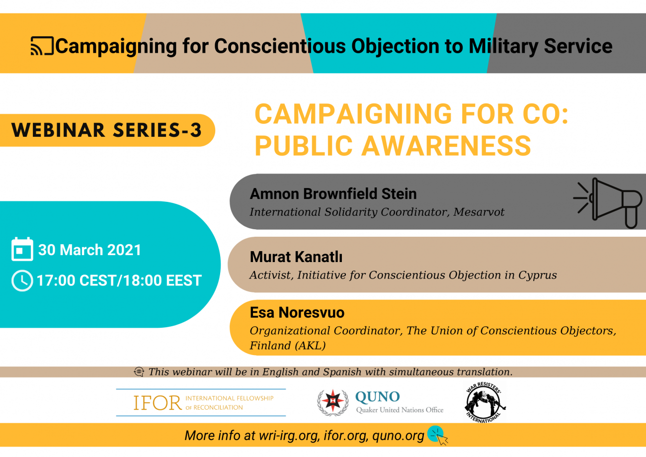 CO Webinar on public awareness poster