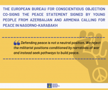 EBCO signs peace statement by Armenian and Azerbaijani youth