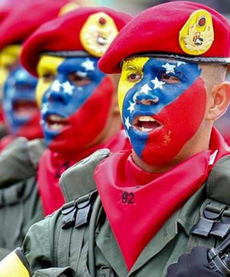 Young people in the Bolivarian army of Venezuela