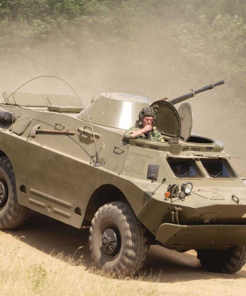 A BRDM-2, one of the Polish vehicles allegedly shipped to Uganda via the Ukraine.