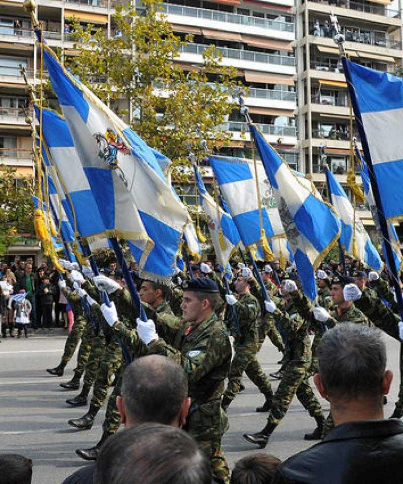 A military parade in Thessaloniki, Greece in 2015. Photo from Flickr
