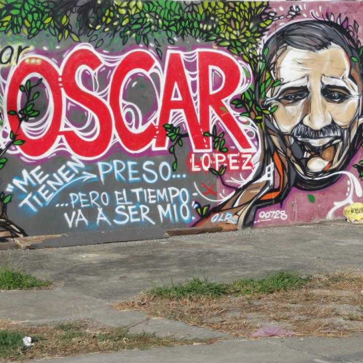 Mural for Oscar Lopez