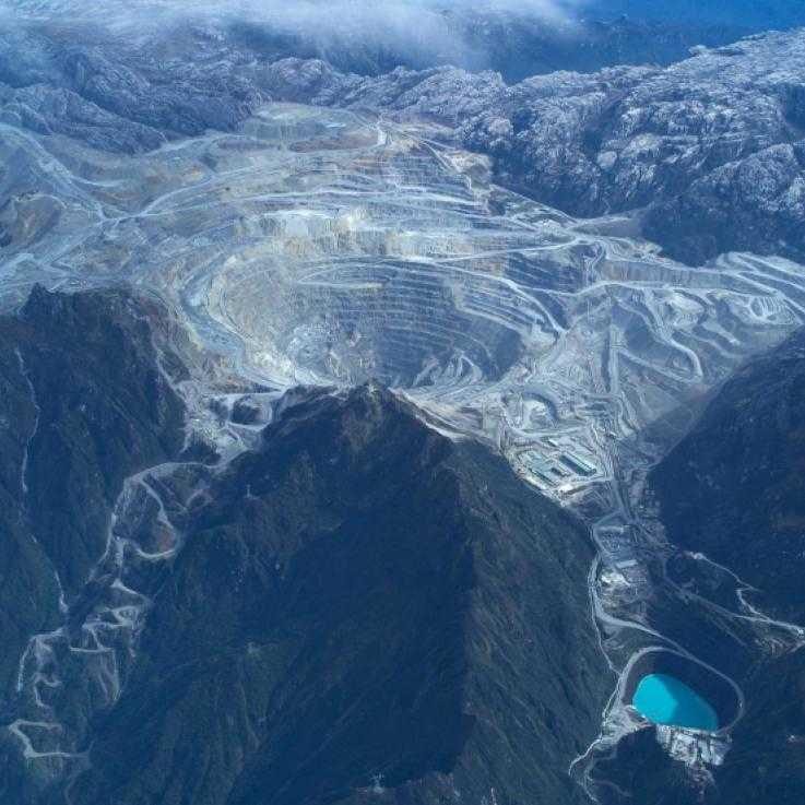 Freeport mine in West Papua