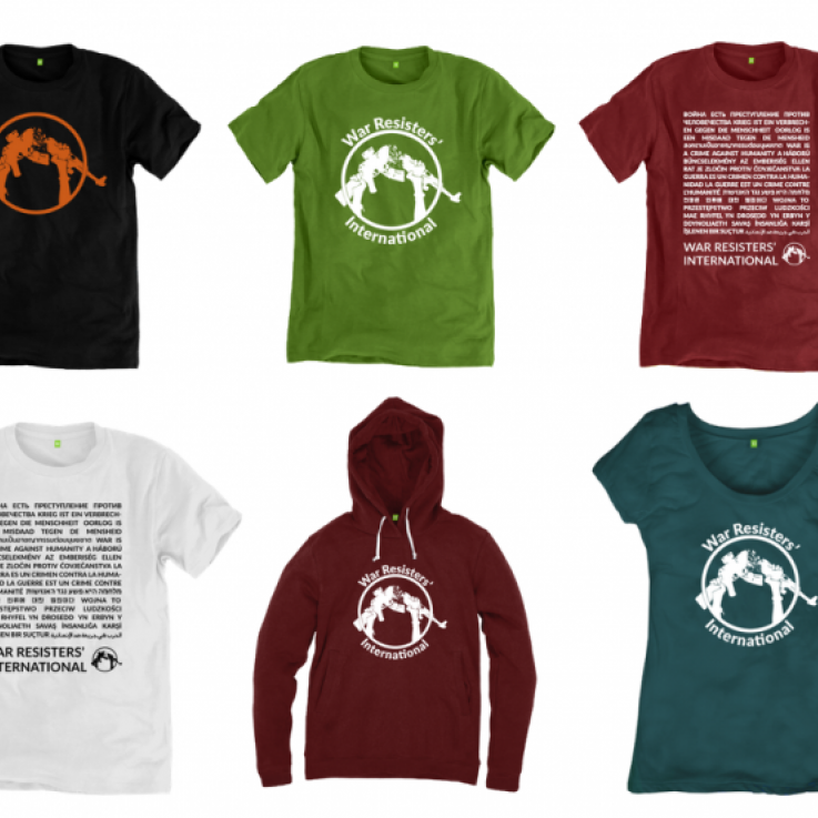 A range of clothing available on the WRI teemill shop