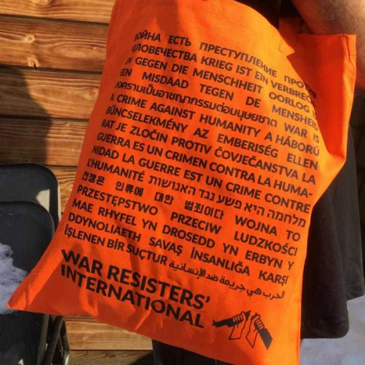 A bright orange tote bag!