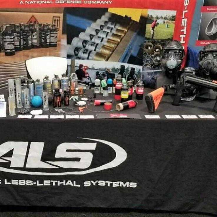 A display of ALS equipment and ammunition