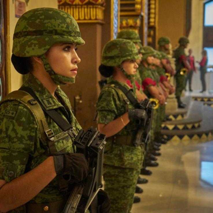 Women soldier Mexico