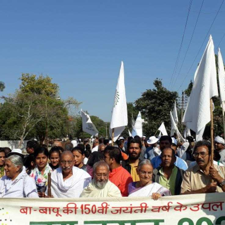 Marchers at JaiJagat2020