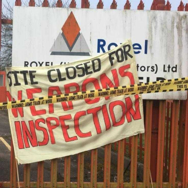'Site Closed for Weapons Inspection' banner