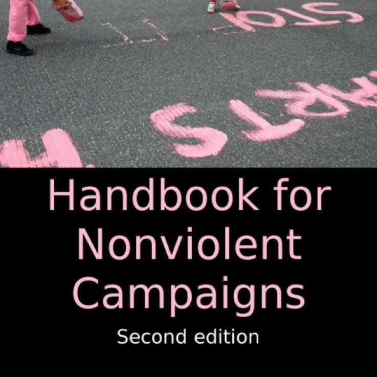 The front cover of the Handbook for Nonviolent Campaigns