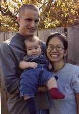 Jeremy Hinzman with his family